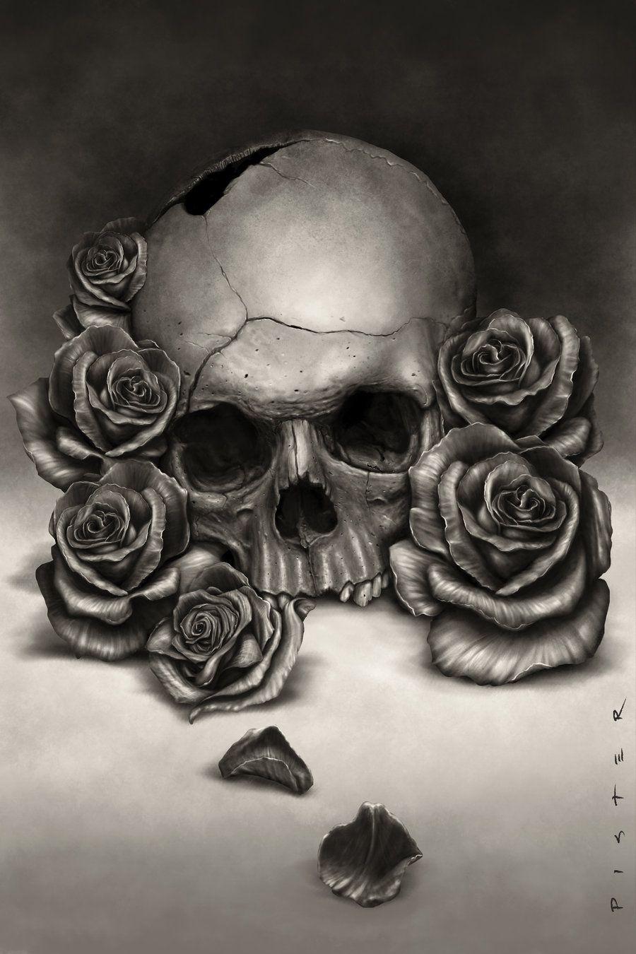 Pin De Dan Gutiérrez En Calaveras Schädel Totenkopf Tattoos Y