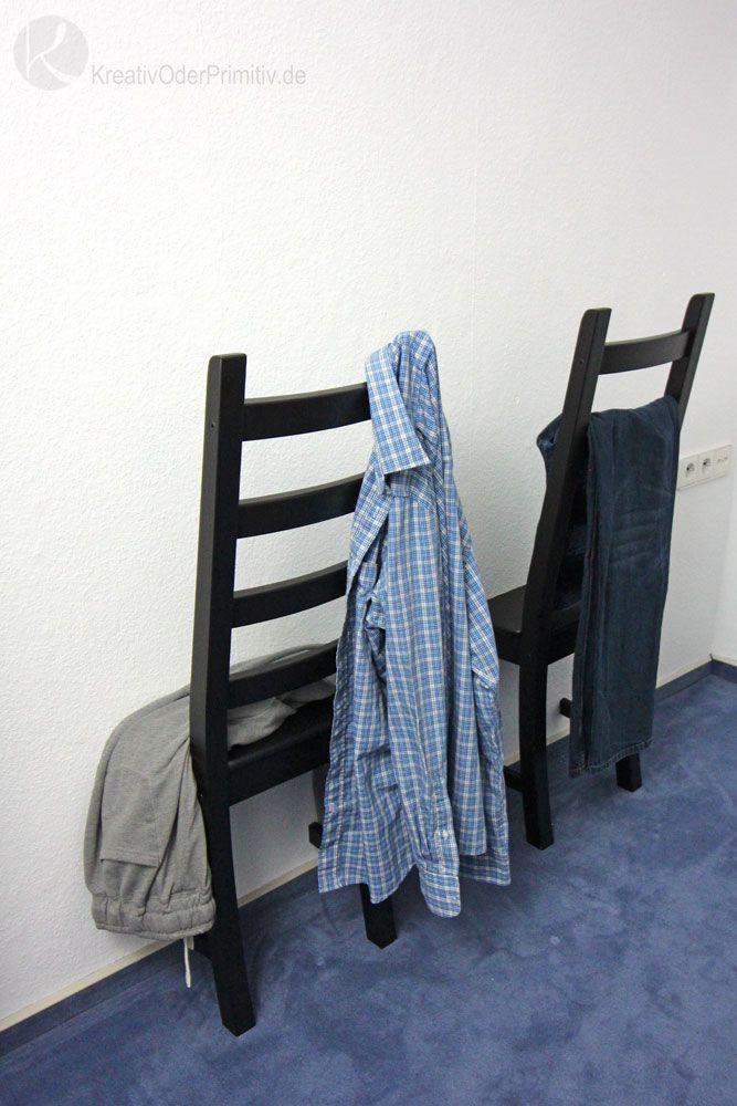 Ikea Hack Herrendiener Kleider Kleiderständer Stuhl auseinandersägen