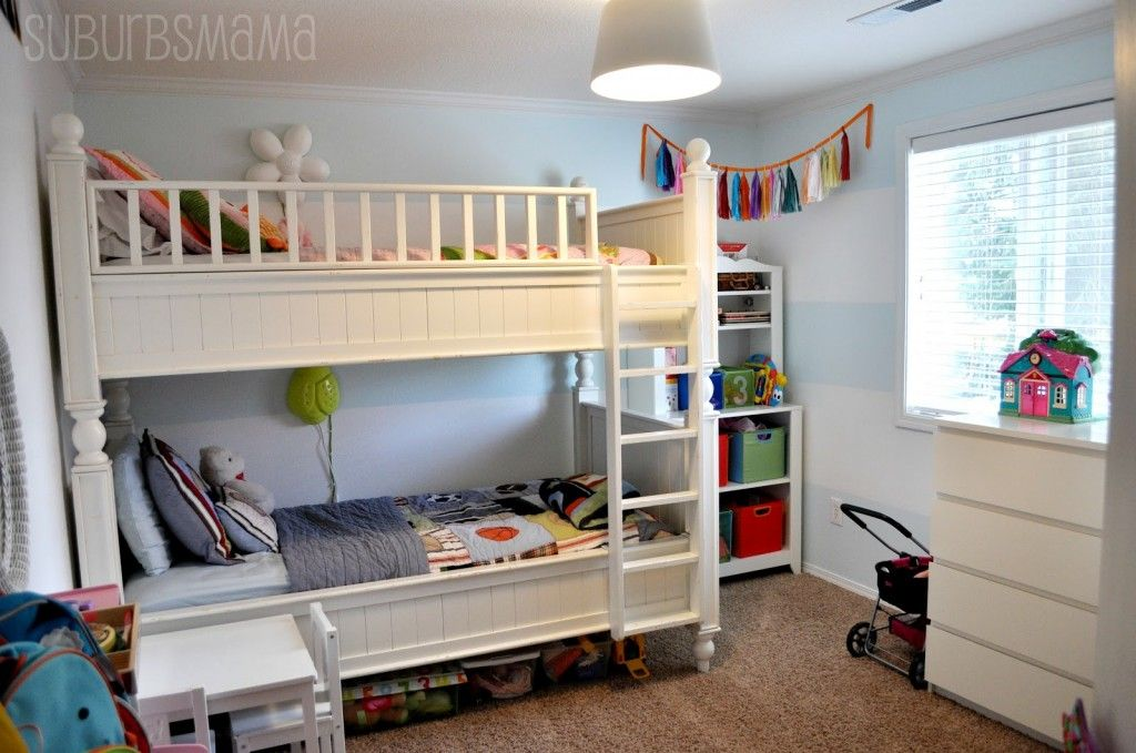 might be a good solution for tiny condos parents on the bottom bed and kid on the top home decor pinterest full size bunk beds bunk bed and twin - Ikea Shared Kids Room