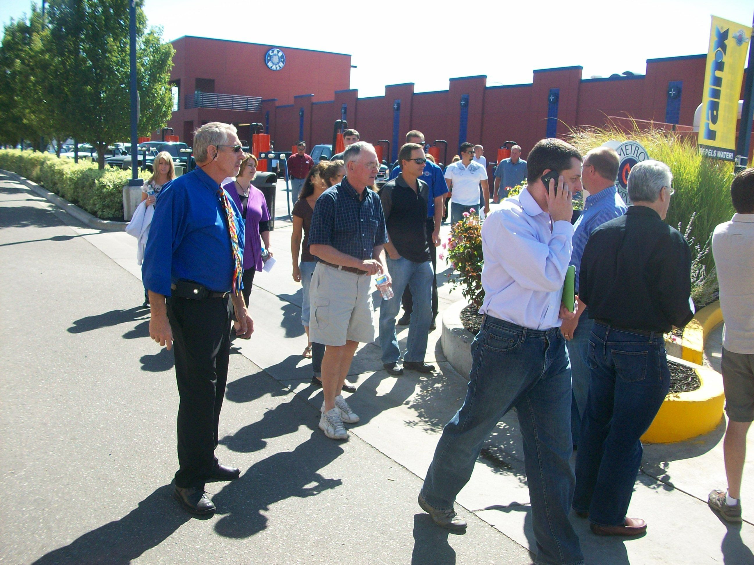 Car wash industry professionals touring metro express
