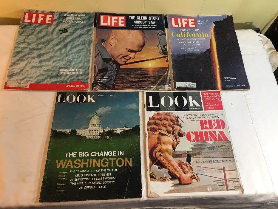 Lot Of 5 Vintage Life And Look Magazines Articles And Adds 60 62 64 65 Look Magazine Magazine Articles Selling On Ebay