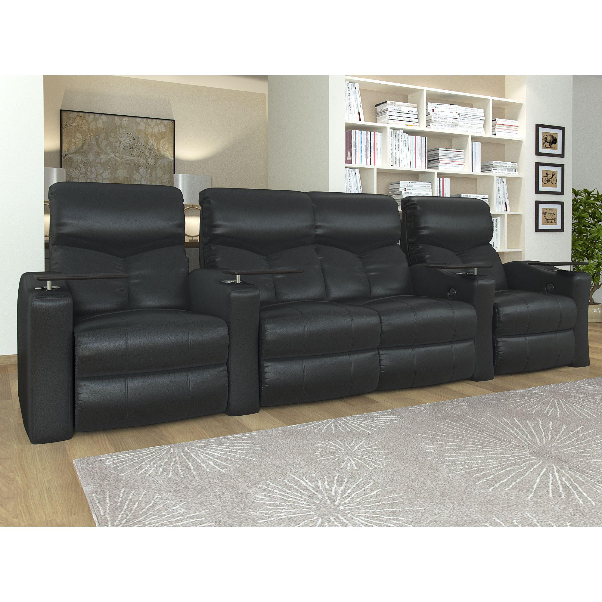 Octane Bolt XS400 Straight with Middle Loveseat Power Recline