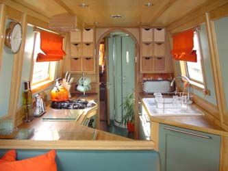 Lovely galley by Fernwood Boats | Canal Boat Dreaming | Pinterest ...