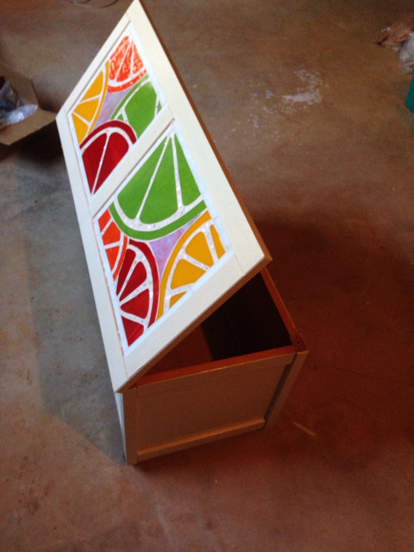 Recycled toy box.