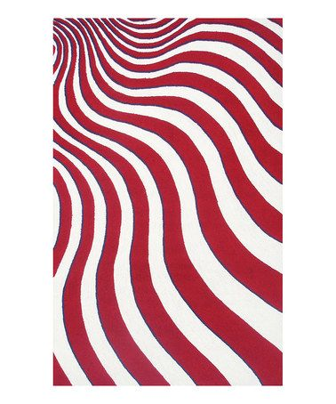 Take a look at this Red & White Waving Flag Indoor/Outdoor Rug by The Rug Market on #zulily today!