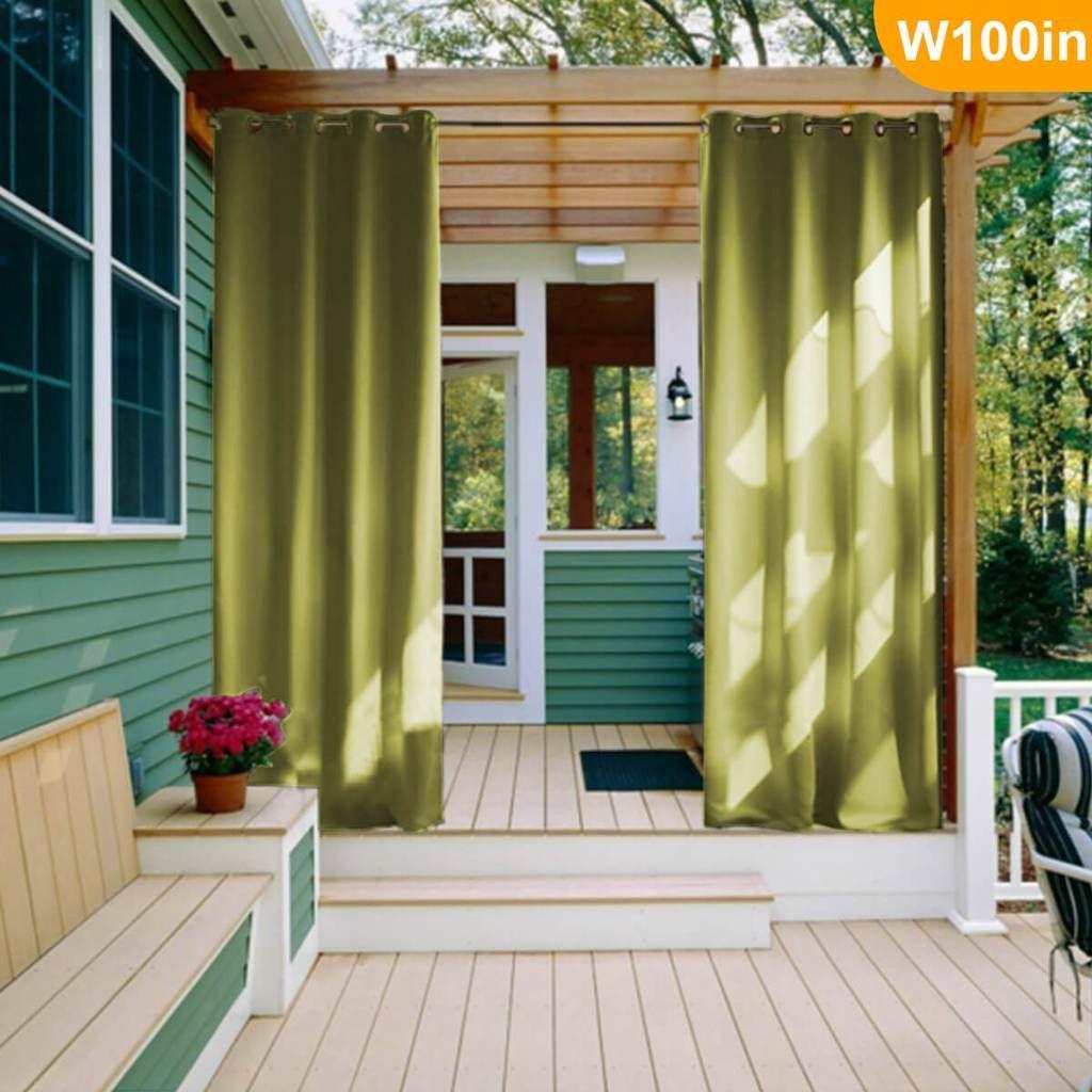 Outdoor Waterproof Grommet Top Curtains,1 Panel   Outdoor ...