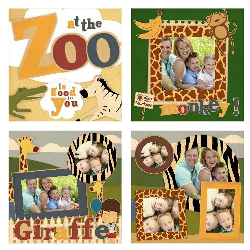 Zoo Scrapbook Page Layouts  Emergency Action Plan Range Of