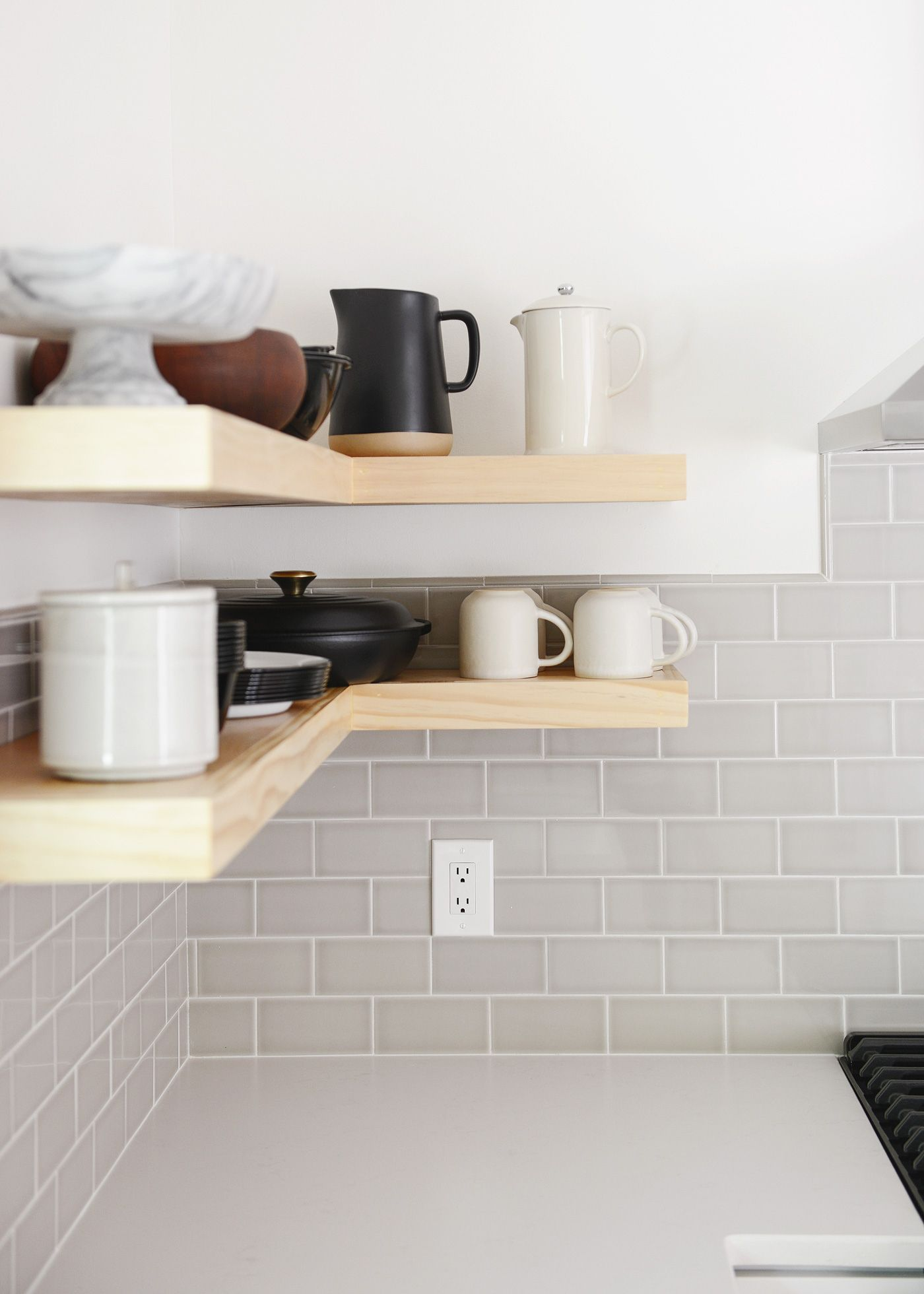 How We Made Thick Floating Shelves A Video Floating Shelves Diy Floating Shelves Diy Floating Shelves Kitchen
