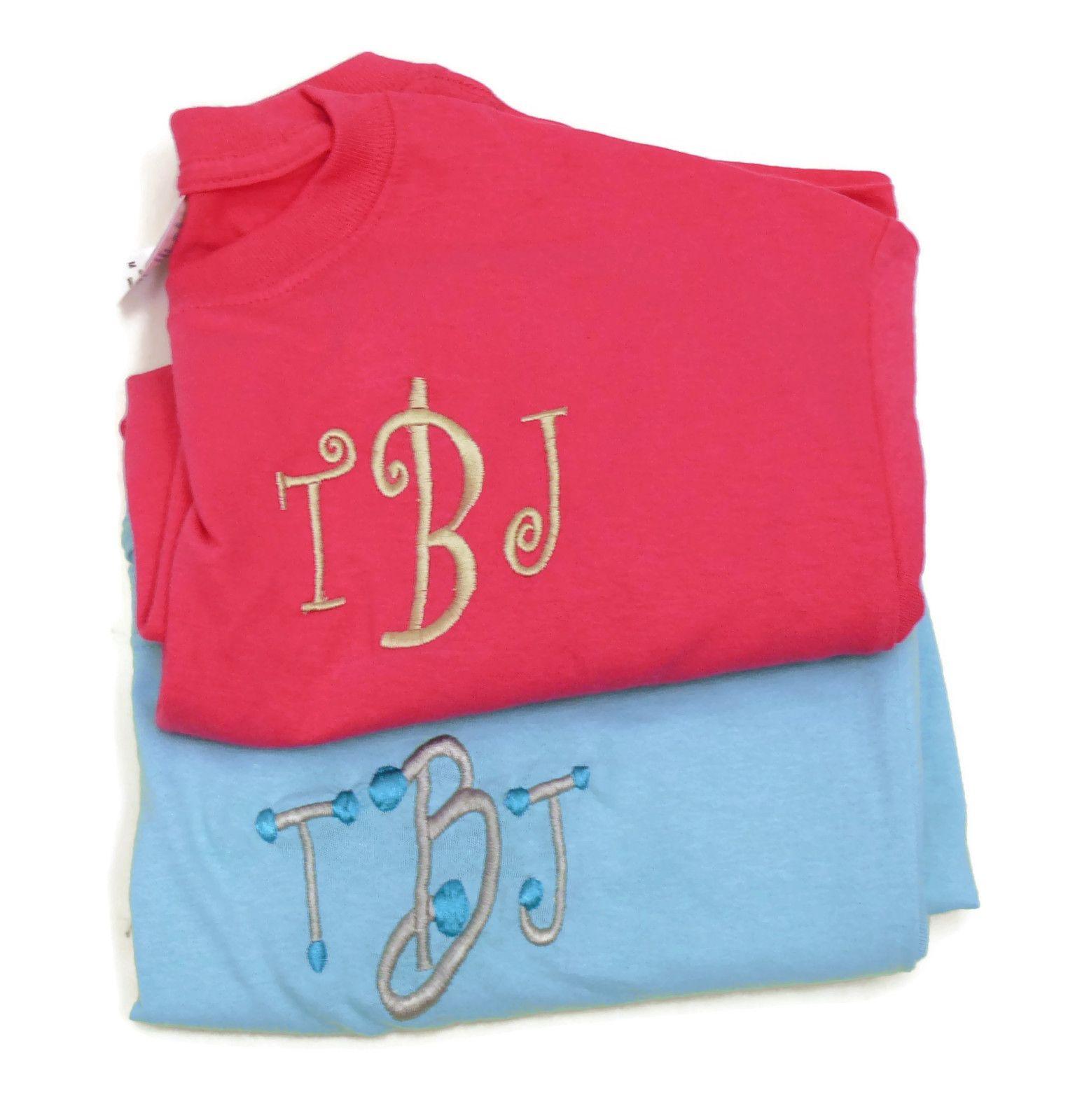 Monogrammed t shirts tbj monograms