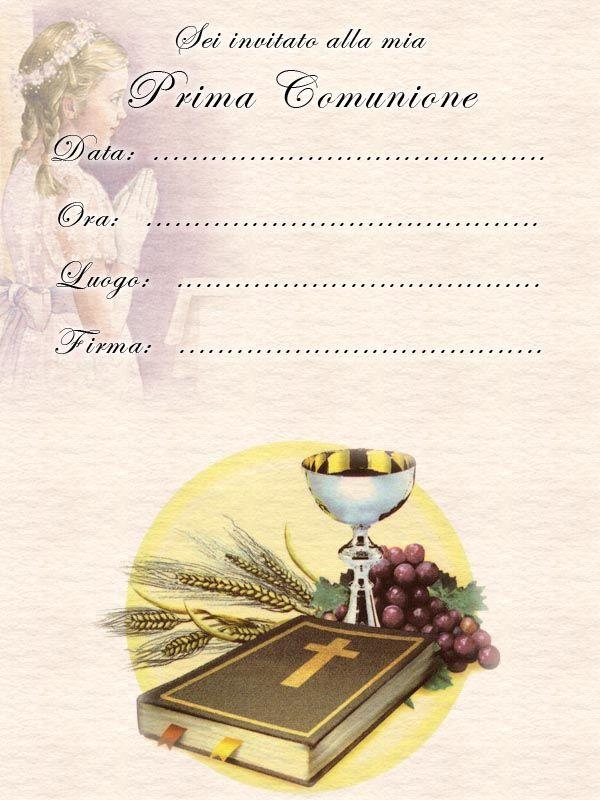 Invito Comunione Bambina2 Jpg 600 800 Biglietti Di Buon Compleanno Comunione Prima Comunione