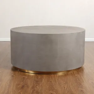 Round Concrete Coffee Table Could Build One Like This With A Shelf