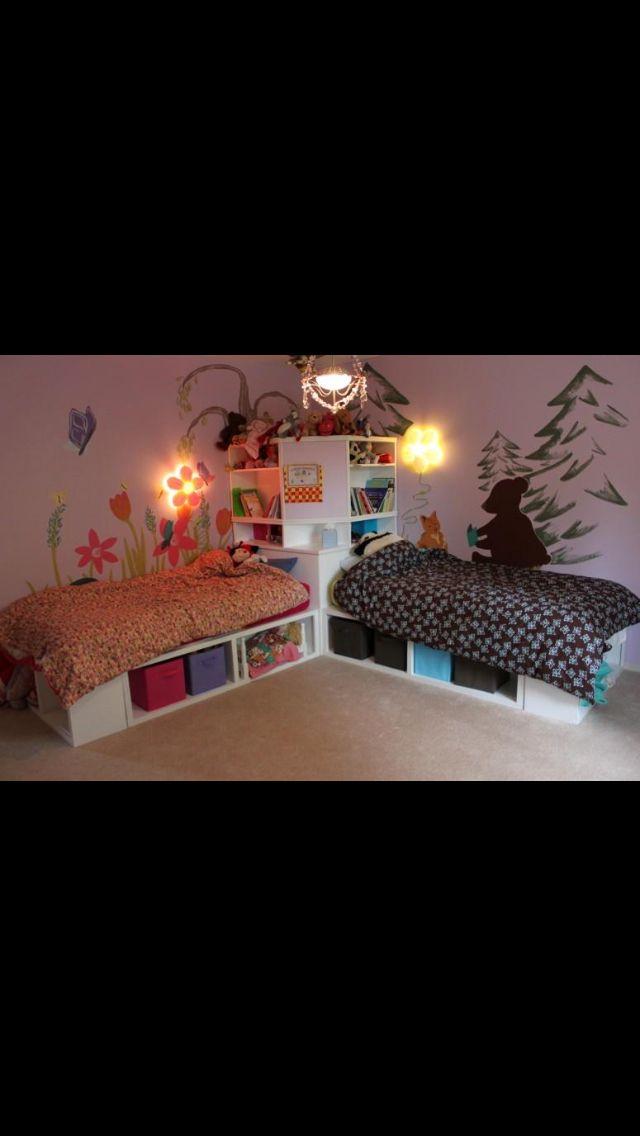 Senge Og Opbevaring Boy And Girl Shared Bedroom Boys Shared Bedroom