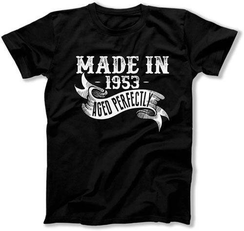 Funny Birthday Shirt 65th Gift Ideas For Her Custom Him Made In 1953 Aged