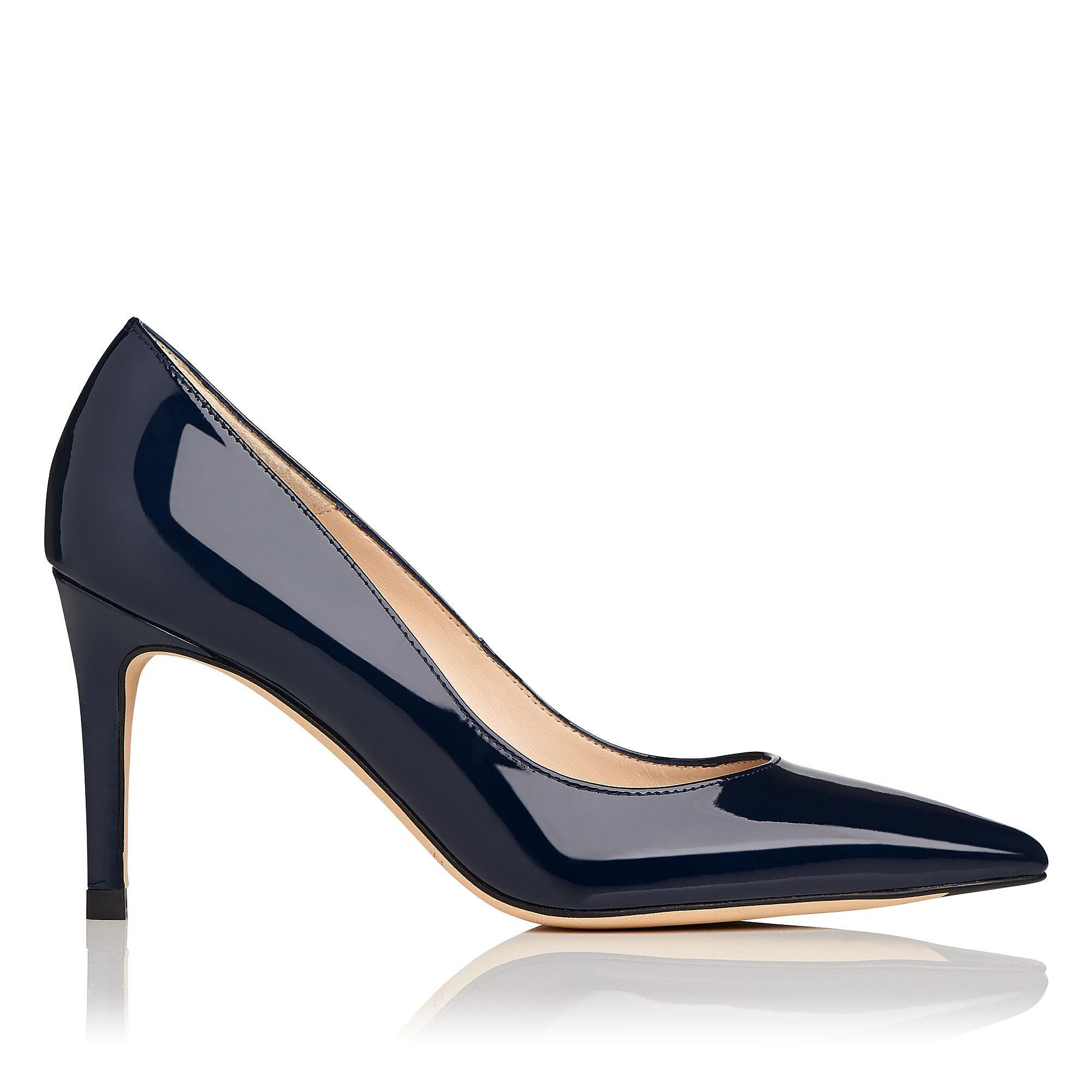 Floret Navy Patent Court Shoes | Shoes