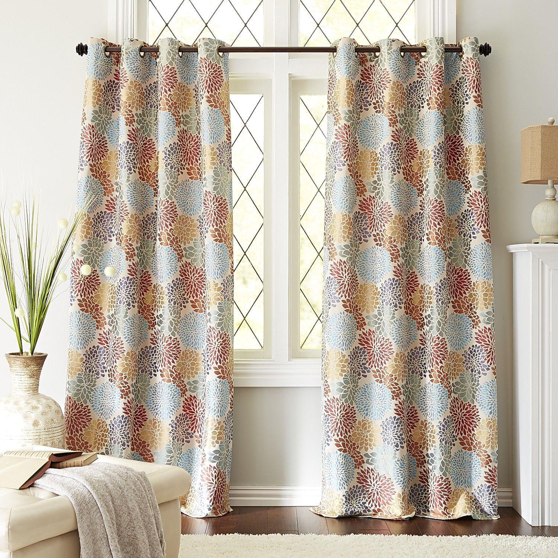 Bloom Garden Curtain   White | Pier 1 Imports