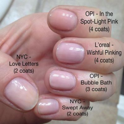 Sheer Pink Nail Polish Comparison In 2019 Pink Gel Nails