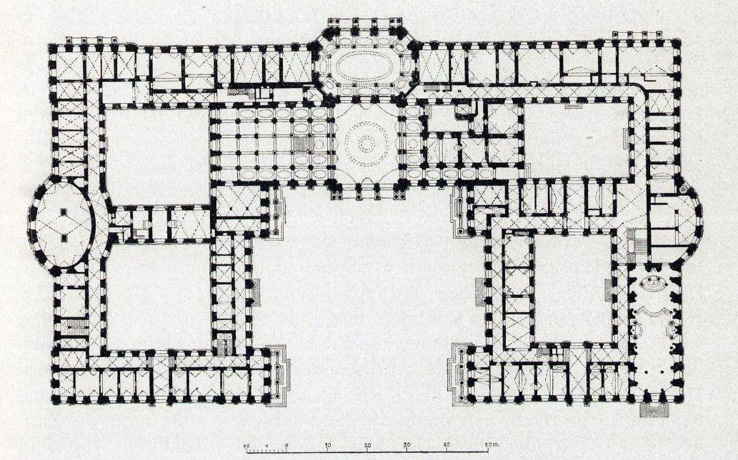 Erdgeschoss Residenzschloss W 252 Rzburg Villa Plan Floor
