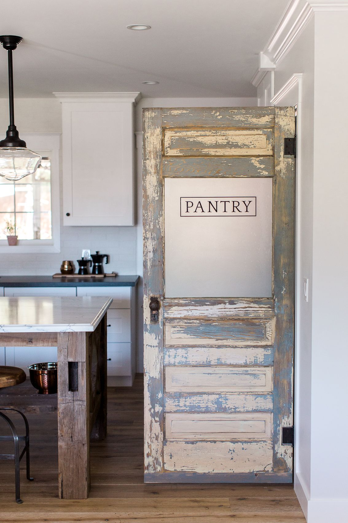 Charmant Custom Rafterhouse Pantry Door. This Door Was An Old Antique Door That We  Rebuilt And Re Purposed As A Pantry Door.