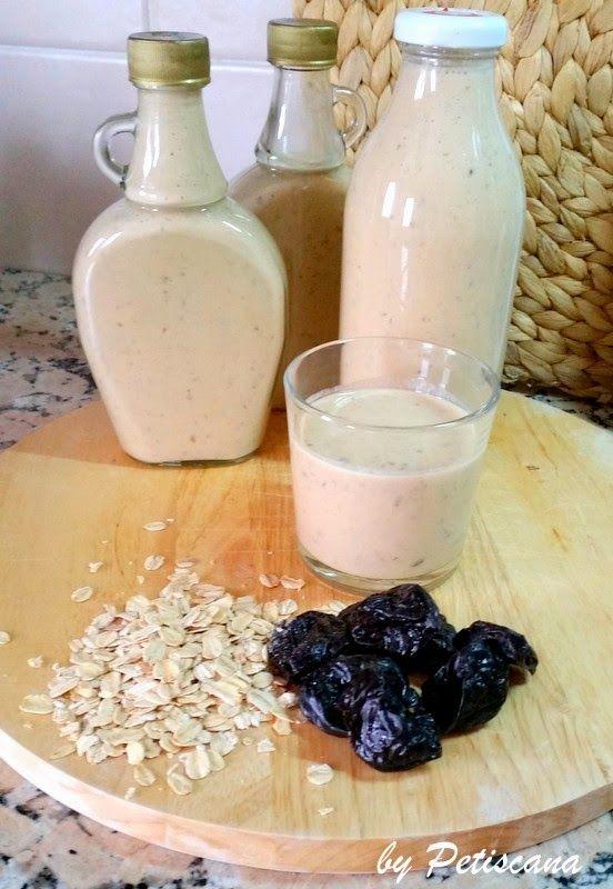 Petiscana: Iogurte líquido de ameixa e aveia
