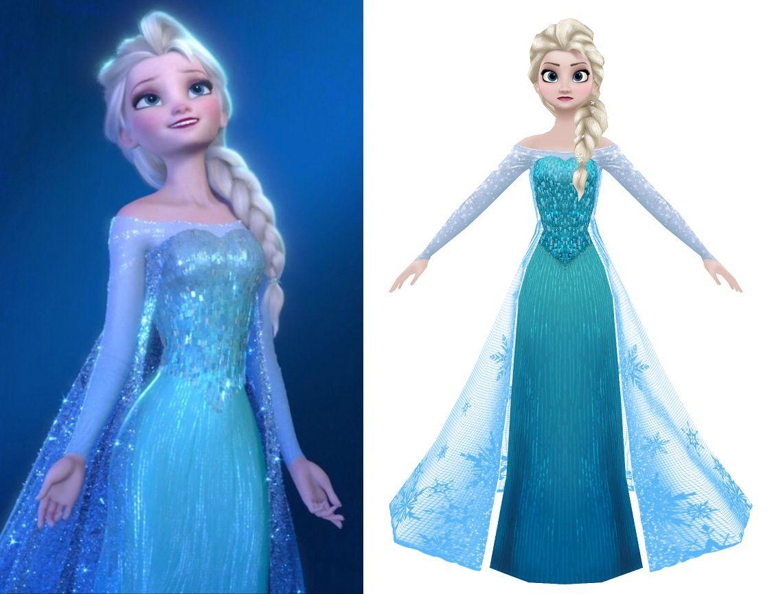 Robe elsa reine des neiges recherche google couture - Robe reine des glaces ...
