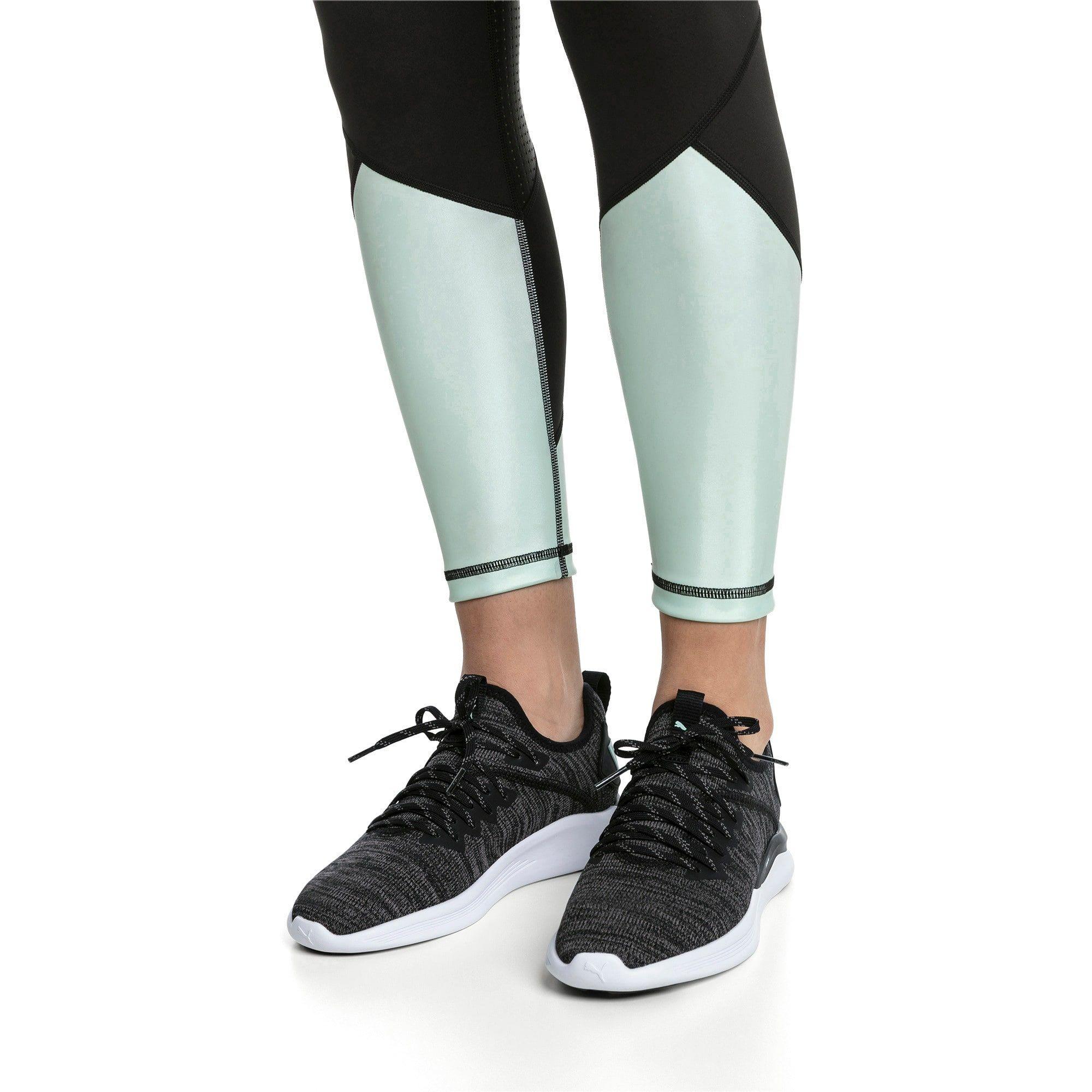 IGNITE Flash evoKNIT Damen Laufschuhe | Schwarzkohle-Faires Aqua | PUMA Damen Sneakers & Sneakers | PUMA Großbritannien