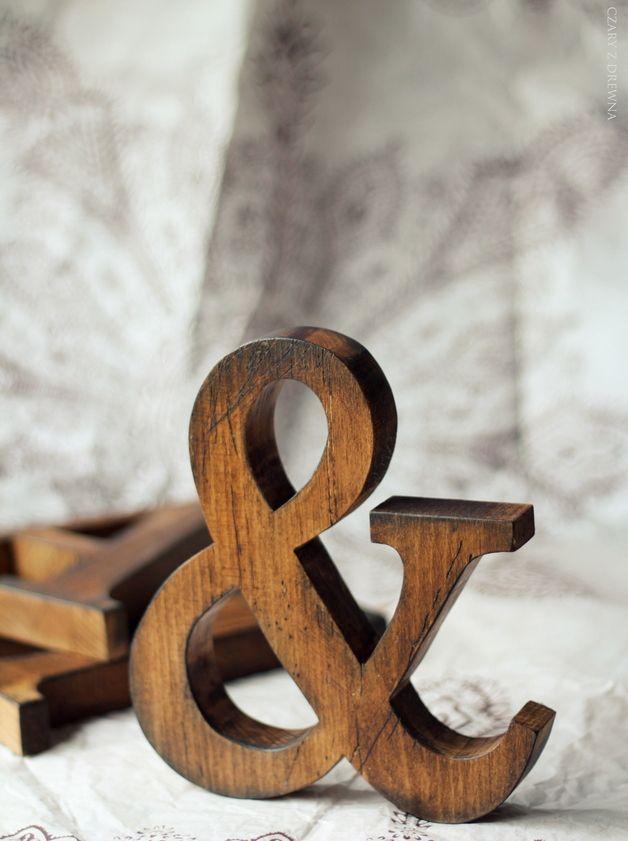 13€ dawanda ---- Buchstaben & Schriftzüge - OLD WOOD TEXTURE LETTERS CLASSIC FONT - ein Designerstück von Czary-z-Drewna bei DaWanda
