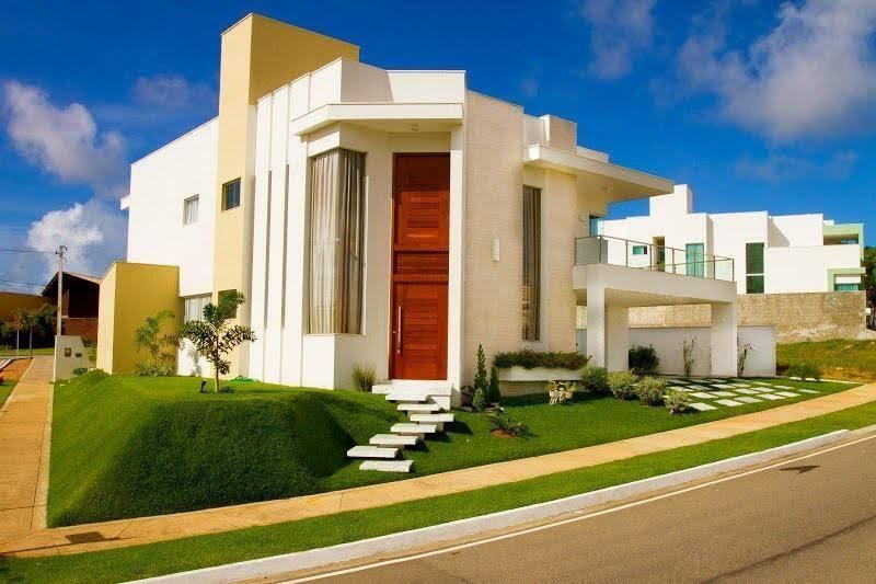45 fachadas de casas de esquina para voc se inspirar Fotos de