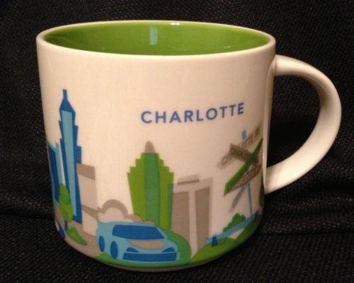 Charlotte North Carolina You Are Here 2017 Series Starbucks 14 Oz Coffee Mug Nib