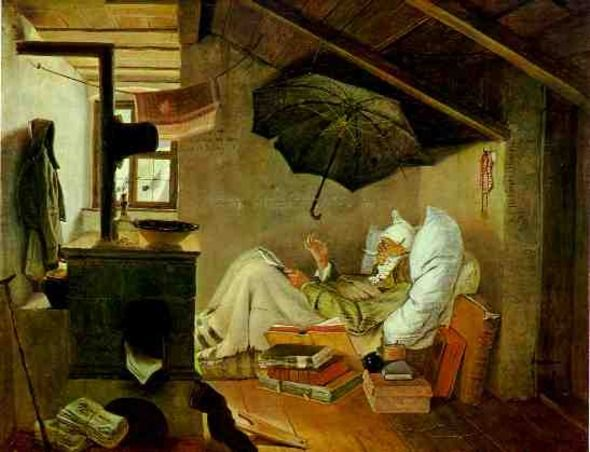 "Der Arme Poet (""The Poor Poet"") - Carl Spitzweg (1839 ..."