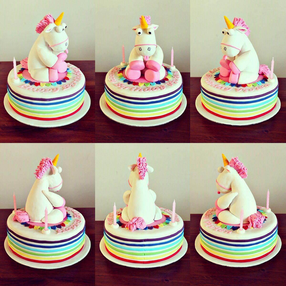 Despicable Me Unicorn Cake