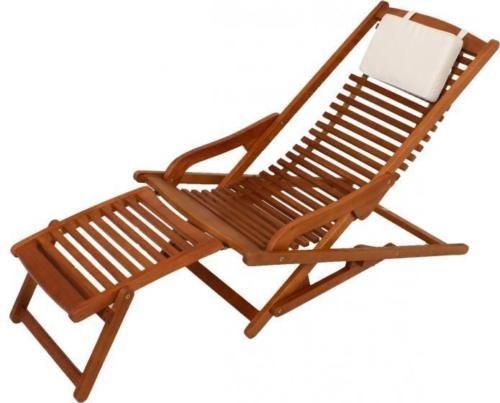 Vip Lounger Deckchair Liegestuhl Aus 100 Fsc Eukalyptus Gartenliege Gartenliege Holz Gartenstuhle