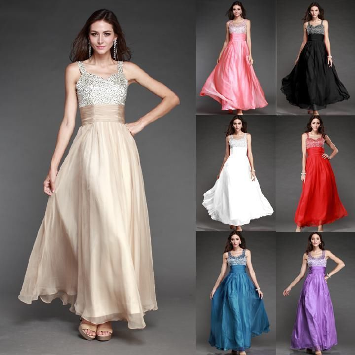 Details about Crazy Price Formal Gown Evening Wear Bridesmaid ...