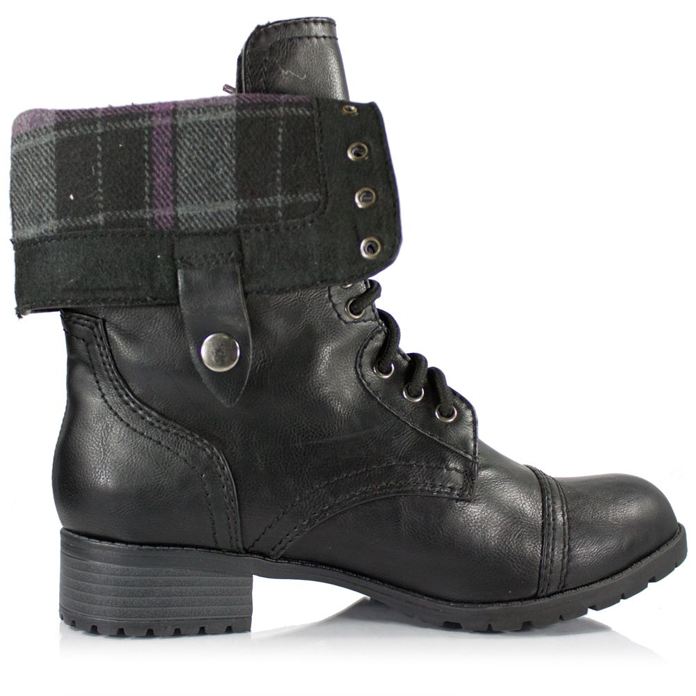 Cheap Black Combat Boots For Girls - Yu Boots
