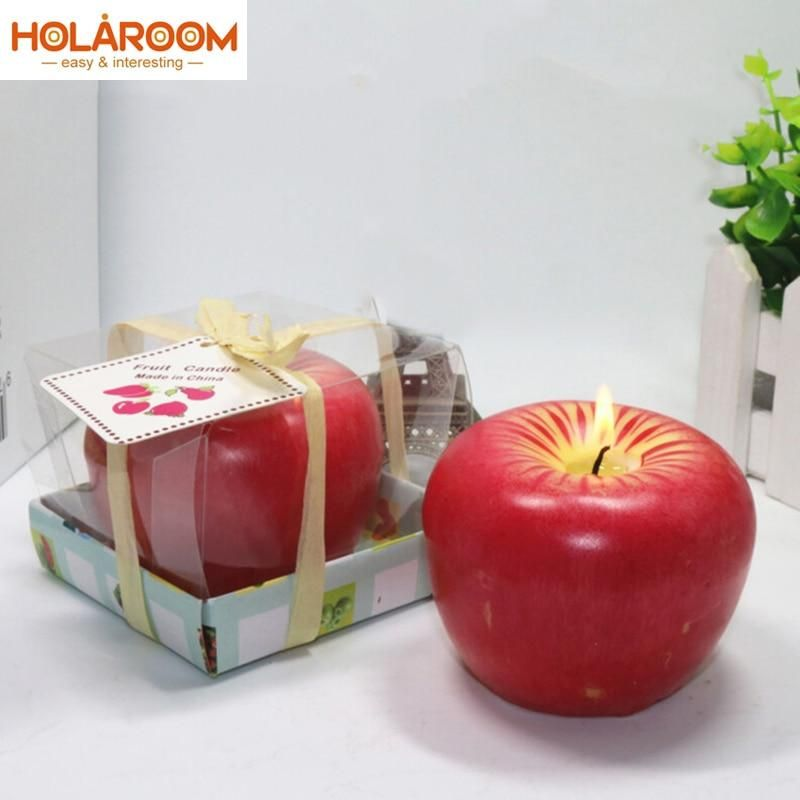 Lovely Red Design for Apple Shape Fruit Scented Candles Christmas Eve Gifts Christmas Day Gifts Christmas Creative Home Decor - Greeting Card 1PCS #scentedcandles