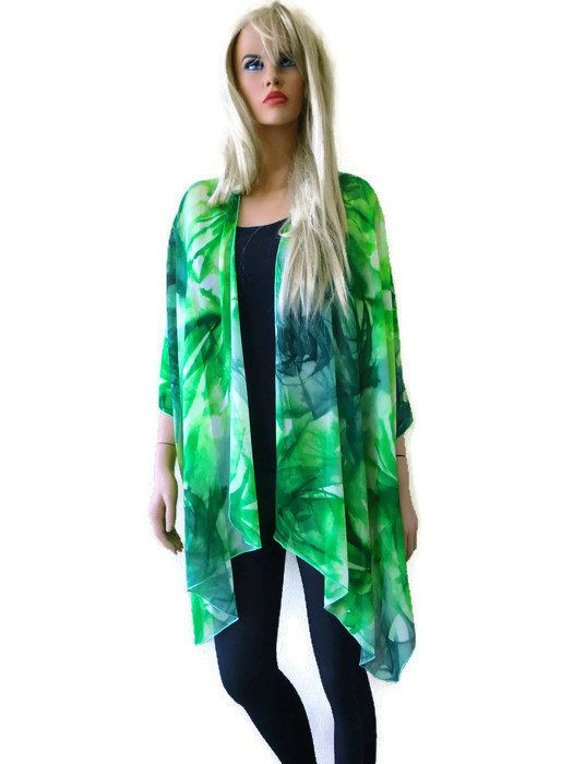 Pretty Leopard/cheetah Kimono Cardigan-Brown-Beige Sheer kimono ...