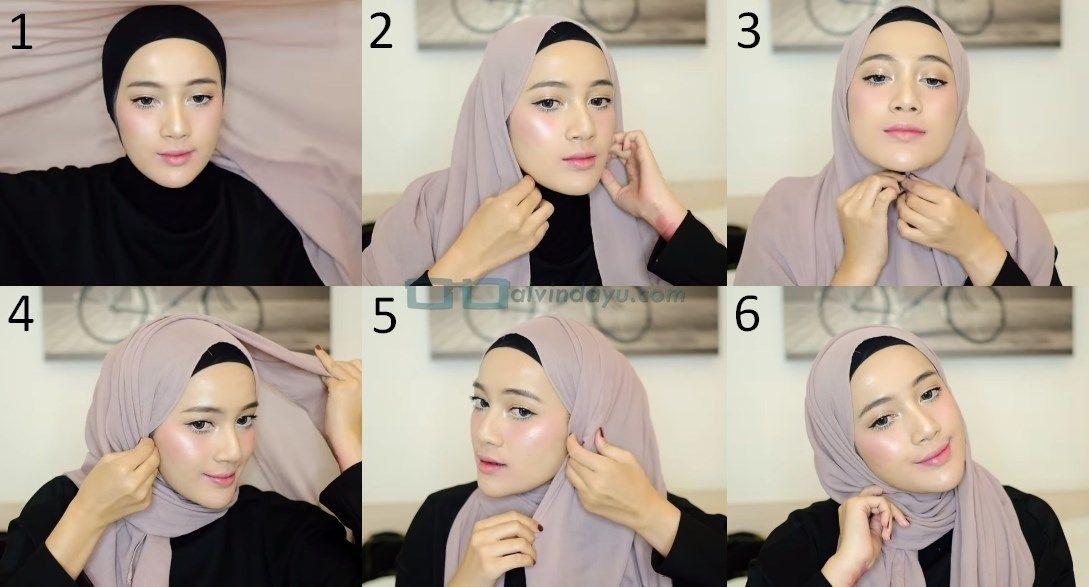 Tutorial Hijab Pashmina Simple Dan Mudah Kursus Hijab Wajah Pesta