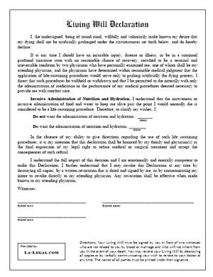 Free Legal Forms To Print Free Louisiana Law Forms WILL - Law legal forms