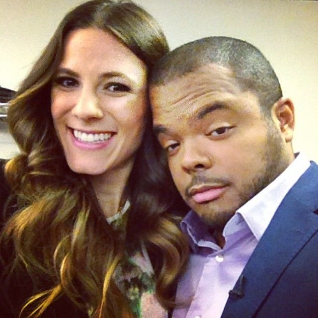 #TBT Roger Mooking and Eden Grinshpan strike a pose backstage during filming of our 2nd season.