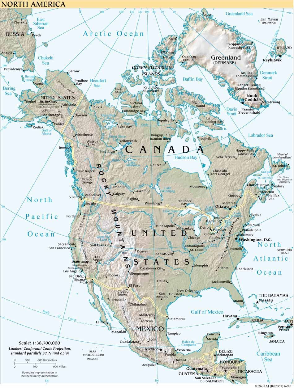 Maps of North America   Reference Charts, Maps, Graphs, Etc ...