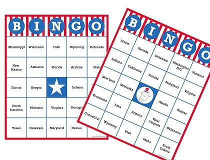 4th of july bingo cards - Pinned by @PediaStaff – Please Visit ht.ly ...