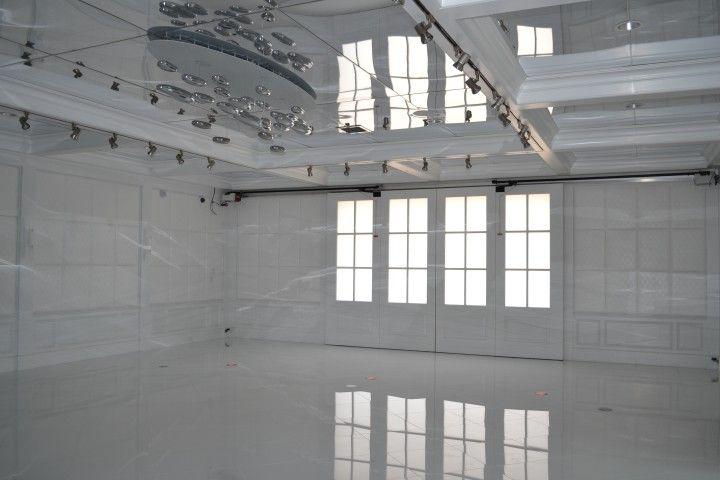 Custom Garage Interior With Ultra-modern Design Feature On