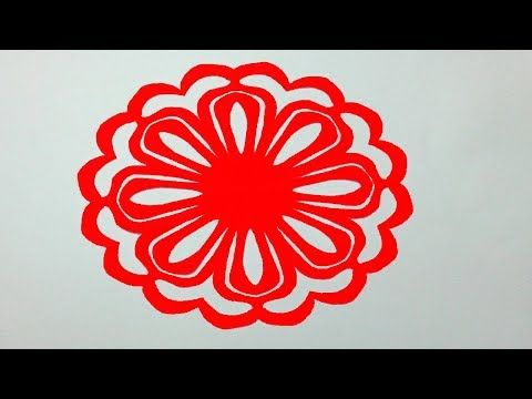 How To Make Simple Paper Cutting Flowerspaper Design For Home Decor DIY Kirigami TutorialDesign
