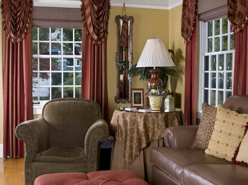 Perfect Living Room Country Curtains Designs With Curtains Country