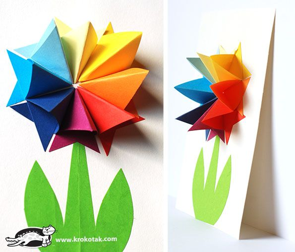 Paper flowers krokotak flowers crafts and origami paper flowers mightylinksfo