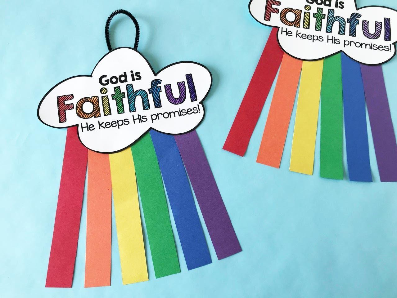 Noah S Ark Rainbow Craft Toddler Sunday School Sunday School