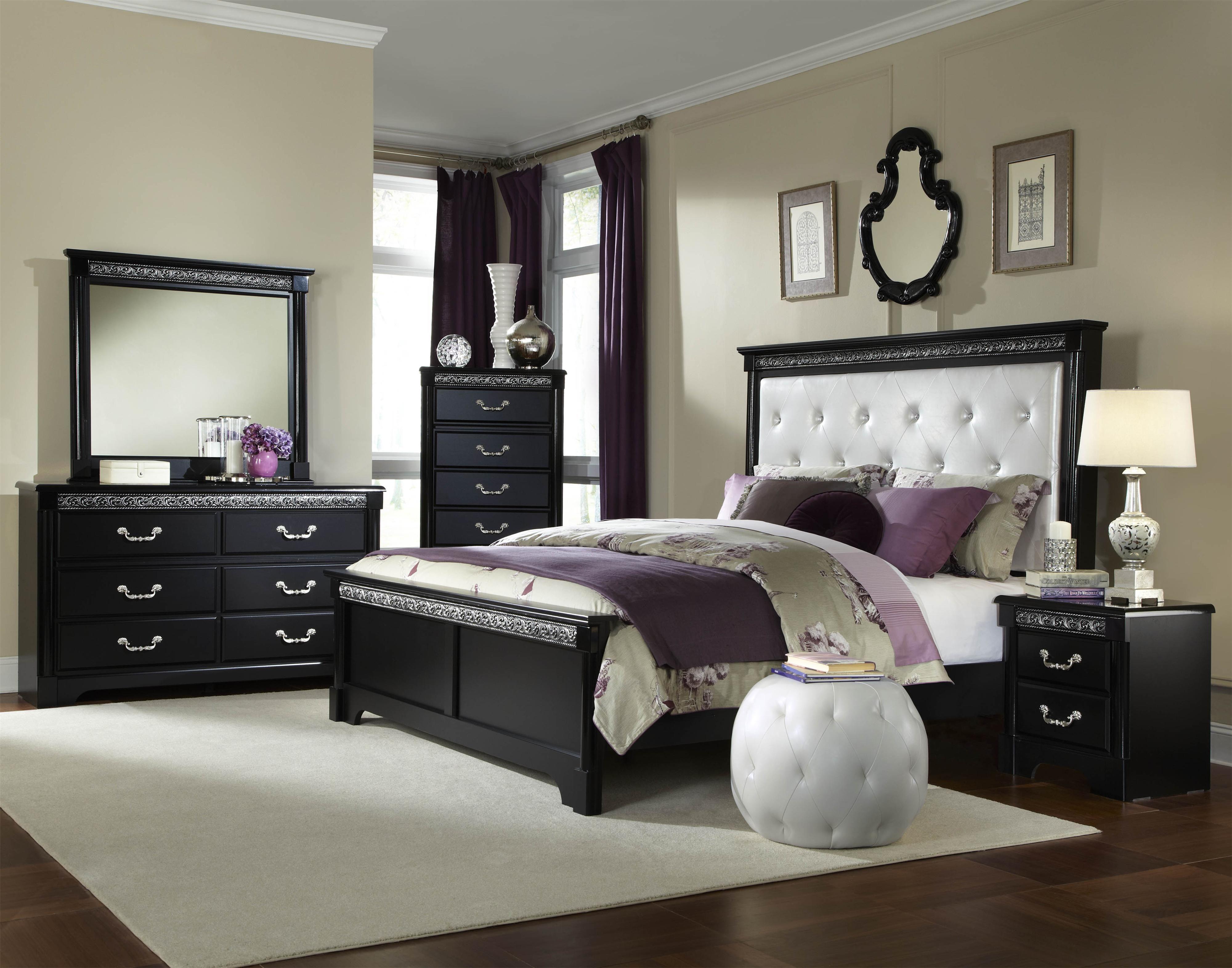 Venetian Queen Bedroom Groupstandard Furniture  Colder's Fascinating Black Queen Bedroom Sets Decorating Design