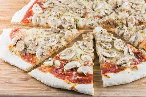 pizza champignons recept