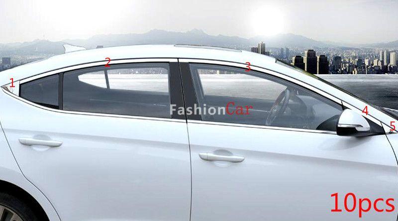 Stainless Steel Upper Window Trim 10pcs For Hyundai Elantra Avante 2016 2017 Car Styling Hyundai Elantra Elantra 2017 Cars
