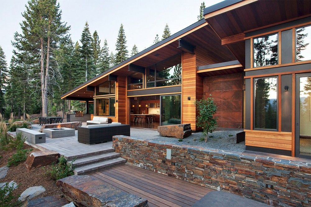 Cosy In The Chalet Gorgeous Chalet Like House With Modern Design Has Wonderful Woodland Views Camp House Modern Mountain Home House