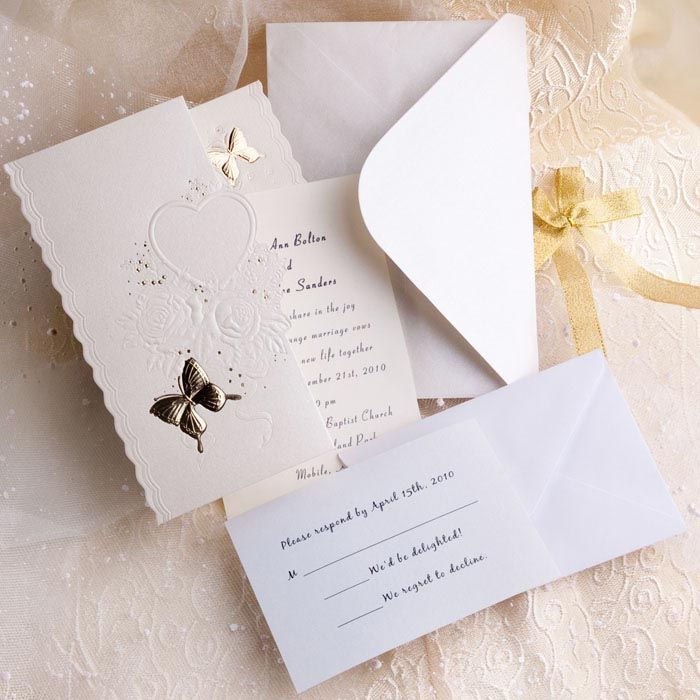 Silver And White Creates The Perfect Modern Wedding Theme Butterfly Wedding Invitations Folded Wedding Invitation Wedding Invitation Kits